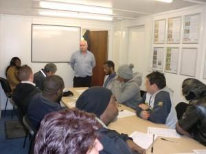 Robert McCauley speaking at an employability workshop
